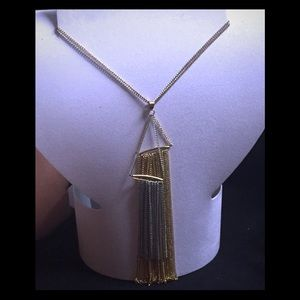 2 toned silver and gold long necklace
